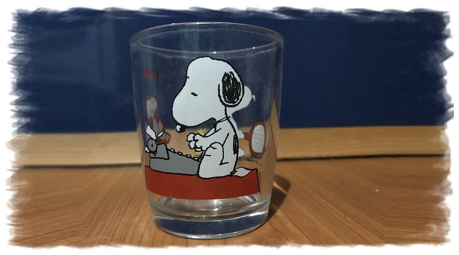 bicchiere snoopy